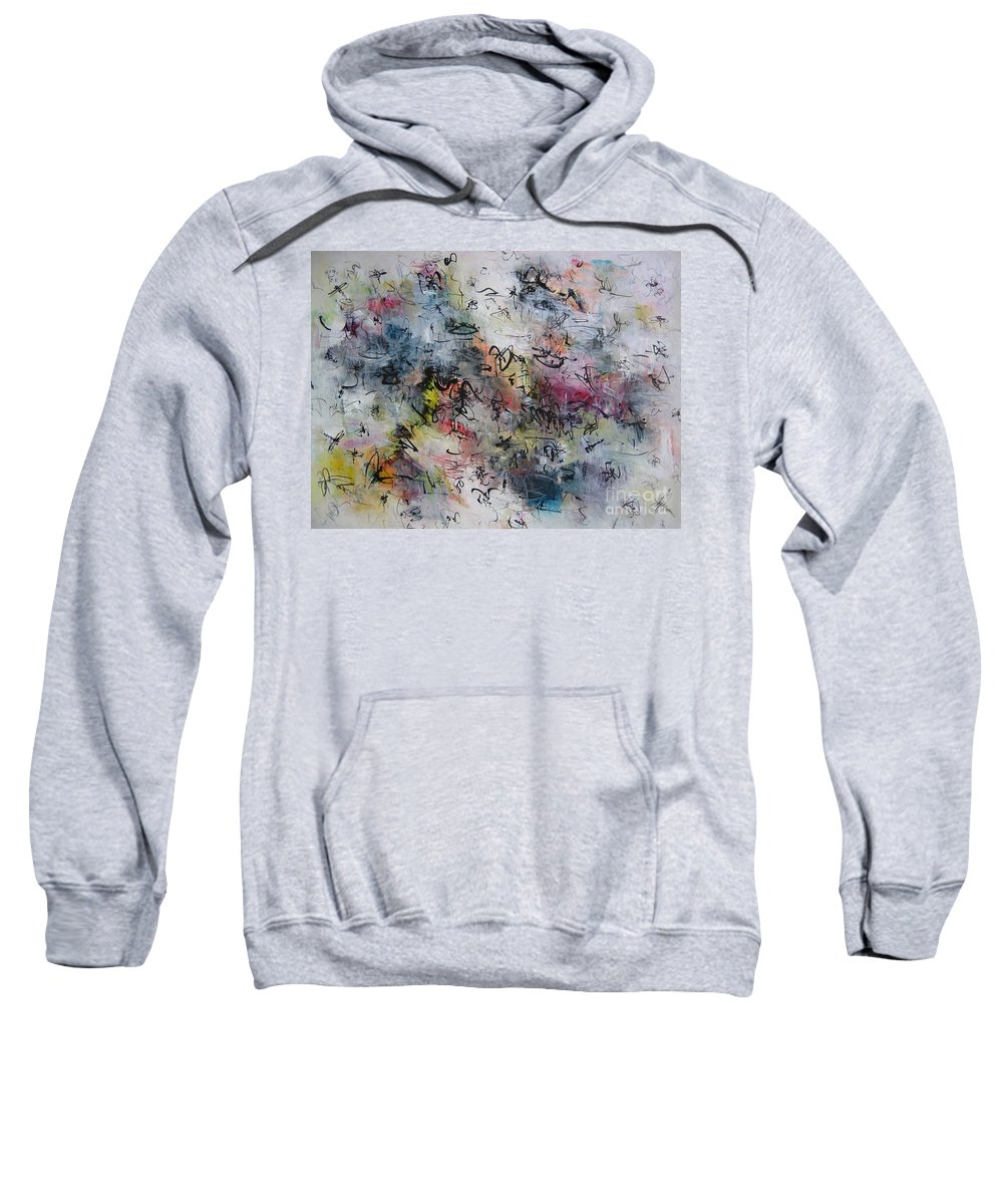 Butterfly Paintings Sweatshirt featuring the painting Abstract Butterfly Dragonfly Painting by Seon-Jeong Kim