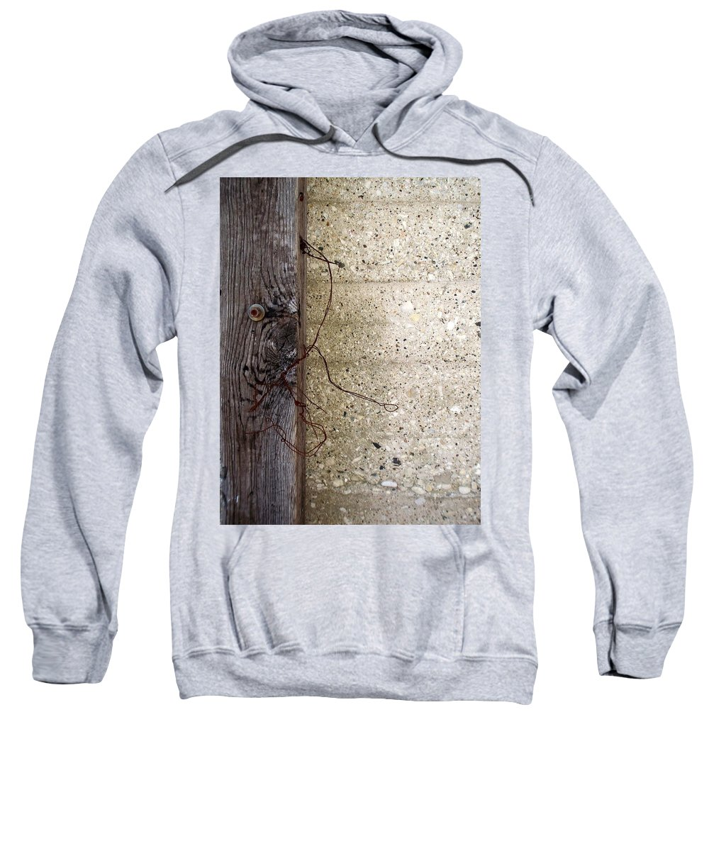 Industrial. Urban Sweatshirt featuring the photograph Abstract Concrete 11 by Anita Burgermeister