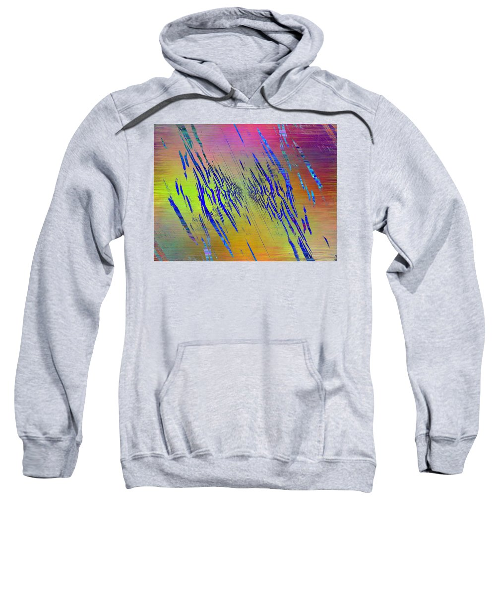 Abstract Sweatshirt featuring the digital art Abstract Cubed 105 by Tim Allen