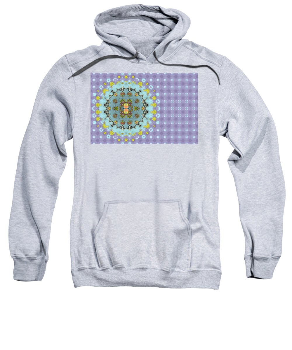 Background Sweatshirt featuring the digital art Abstract Floral by Susan Leggett