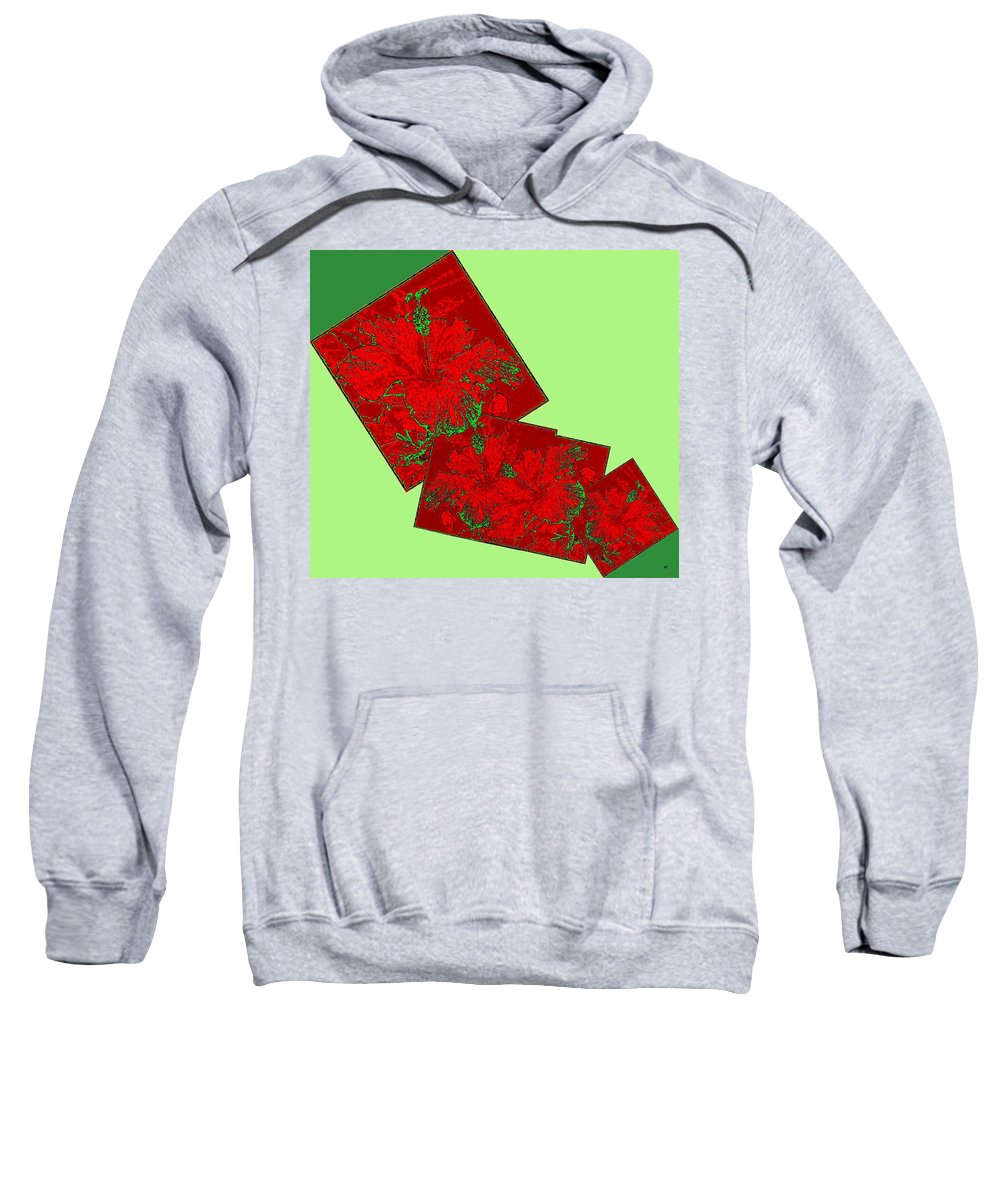 Abstract Fusion Sweatshirt featuring the digital art Abstract Fusion 172 by Will Borden