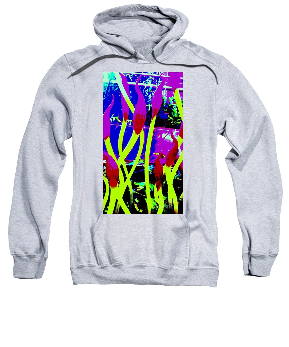 Abstract Sweatshirt featuring the photograph Abstract Lavender by Eric Schiabor