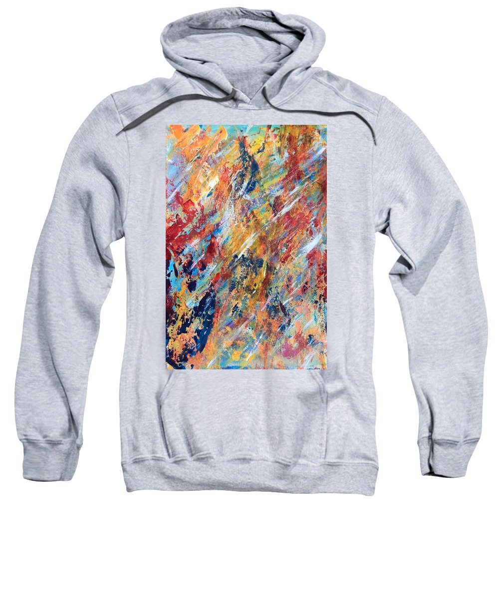 Abstract Painting Sweatshirt featuring the painting Abstract Painting by AR Annahita