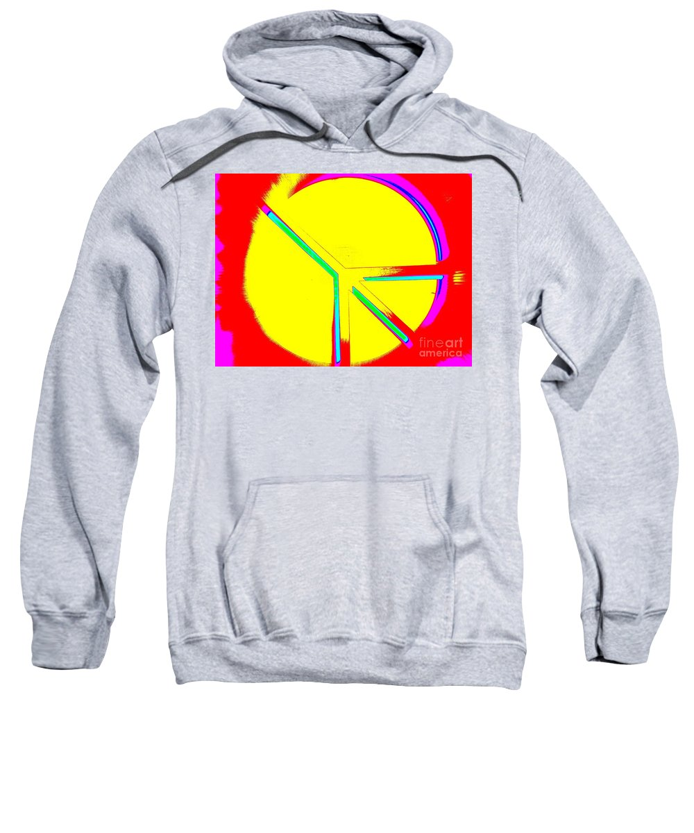 Pop Art Sweatshirt featuring the photograph Abstract Peace by Ed Weidman