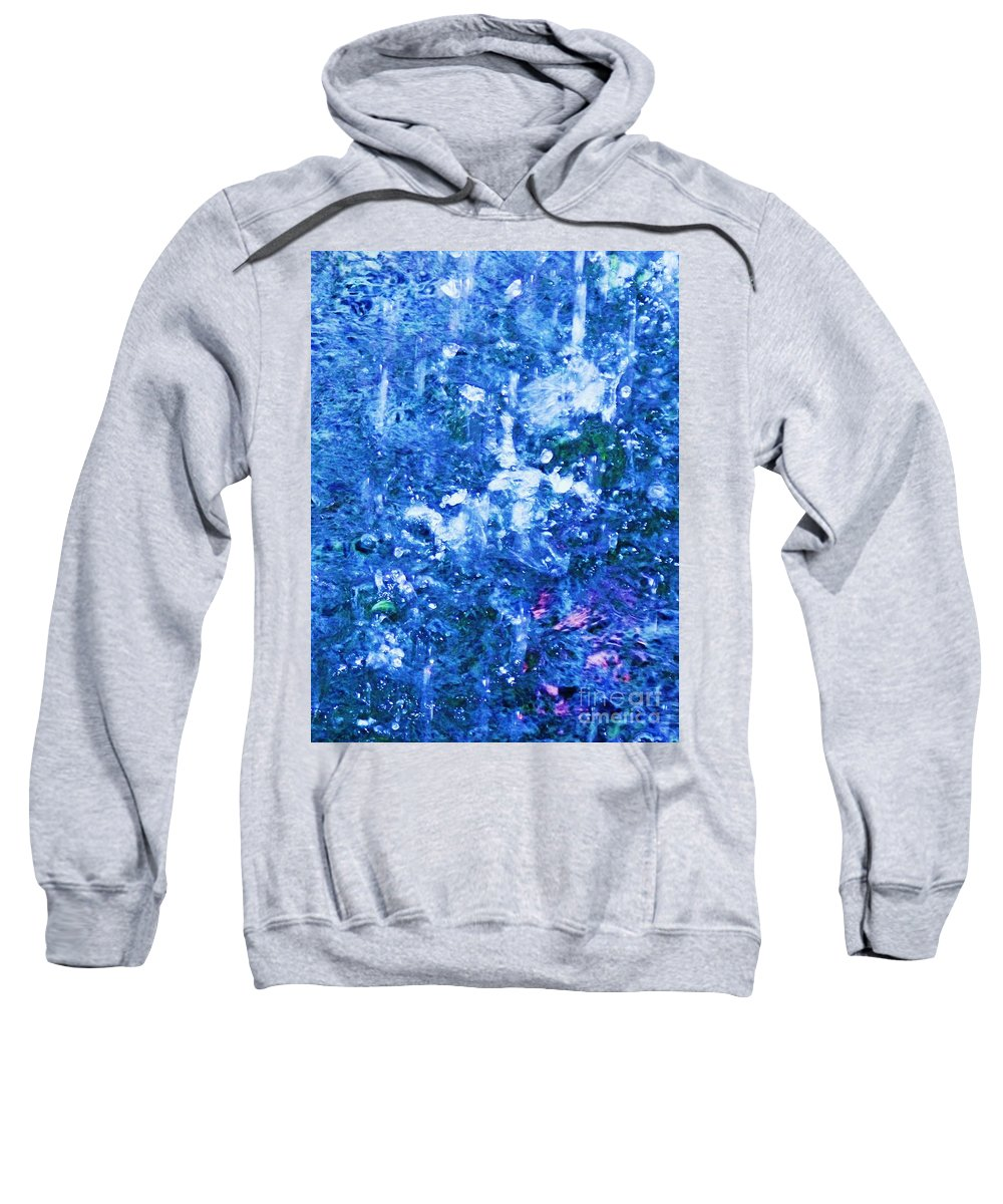 Abstract Sweatshirt featuring the photograph Abstract Splashing Water by Eric Schiabor