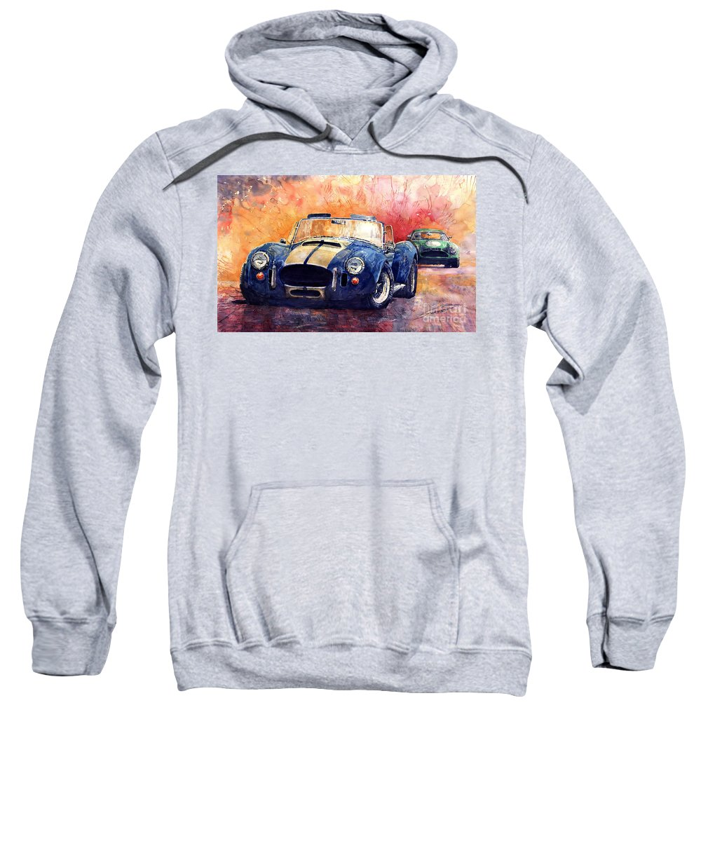 Ac Cobra Sweatshirt featuring the painting Ac Cobra Shelby 427 by Yuriy Shevchuk