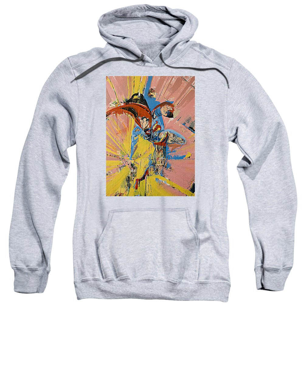 Abstract Art Paintings Sweatshirt featuring the painting Action Abstraction No. 14 by David Leblanc