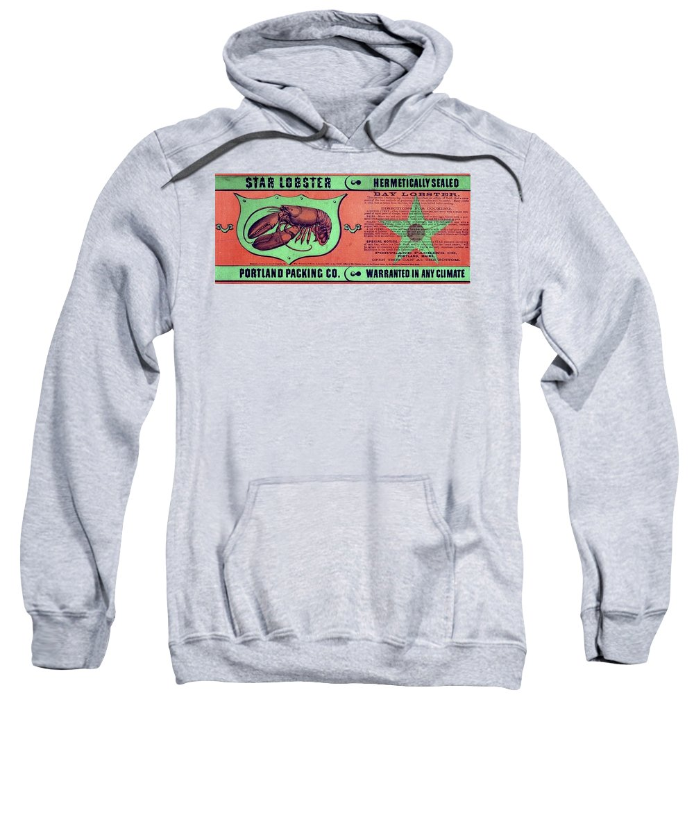 1867 Sweatshirt featuring the drawing Ad Lobster, C1867 by Granger