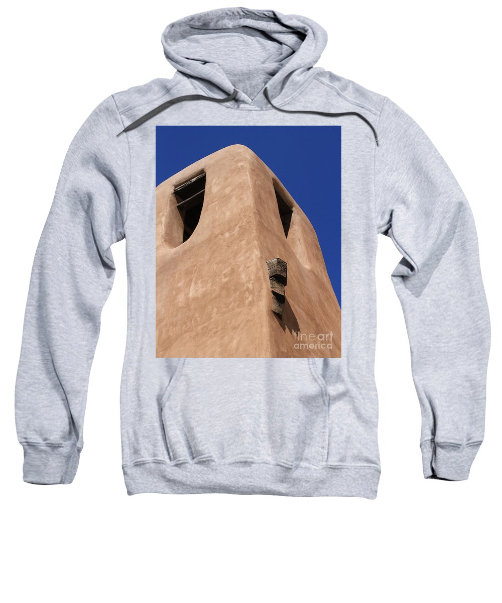 New Mexico Sweatshirt featuring the photograph Adobe Tower by Ashley M Conger