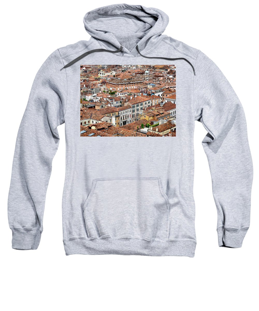 Aerial Sweatshirt featuring the photograph Aerial Of Venice by Jennie Breeze