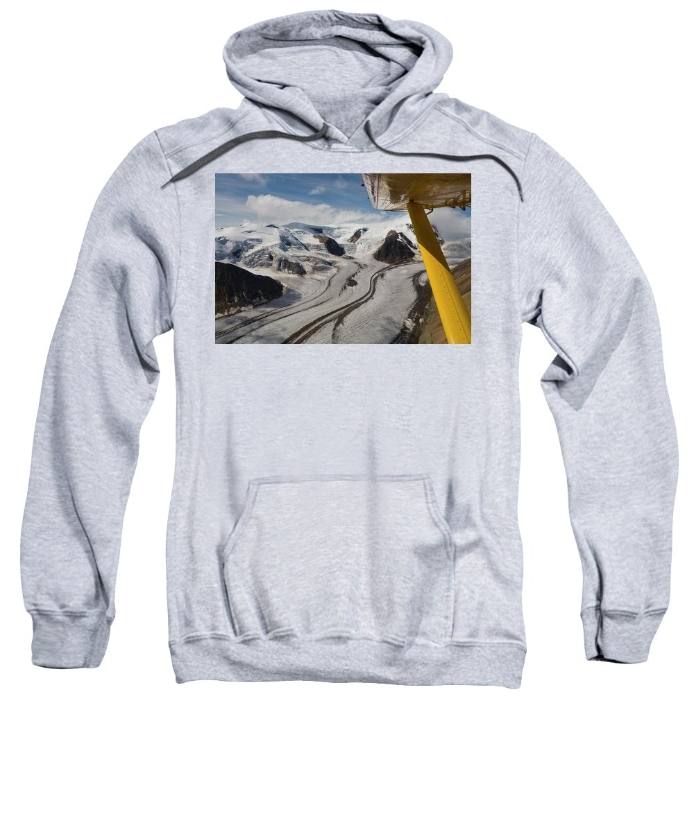 Aerial View Sweatshirt featuring the photograph Aerial View From Bush Plane by Whit Richardson
