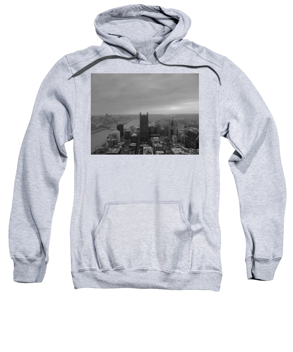 City Sweatshirt featuring the photograph Aerial View Of Pittsburgh by Cityscape Photography