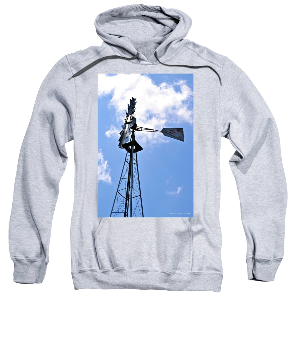 Aermotor Sweatshirt featuring the photograph Aermotor Windmill by Tara Potts