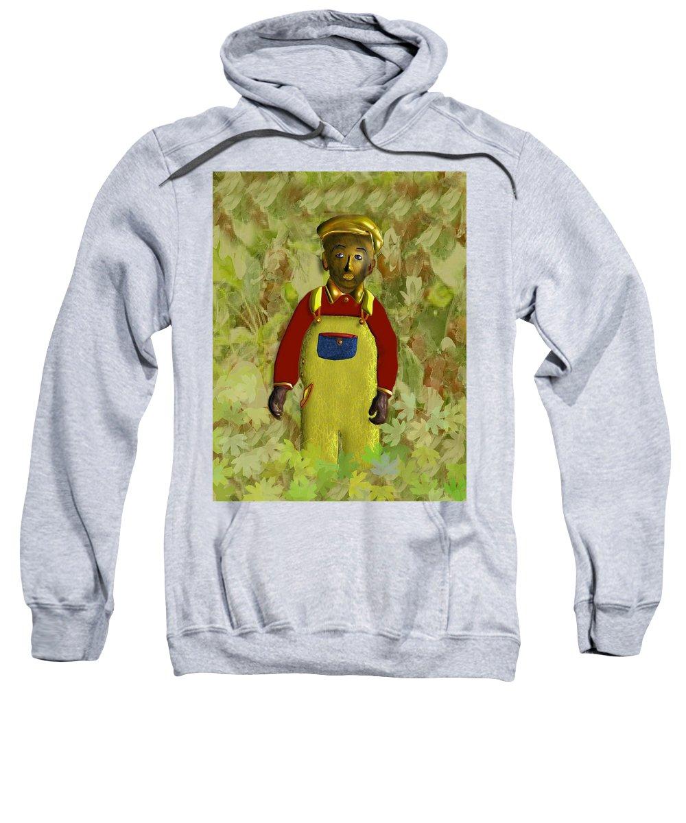 African American Sweatshirt featuring the digital art African American Kid Art by John Clarke