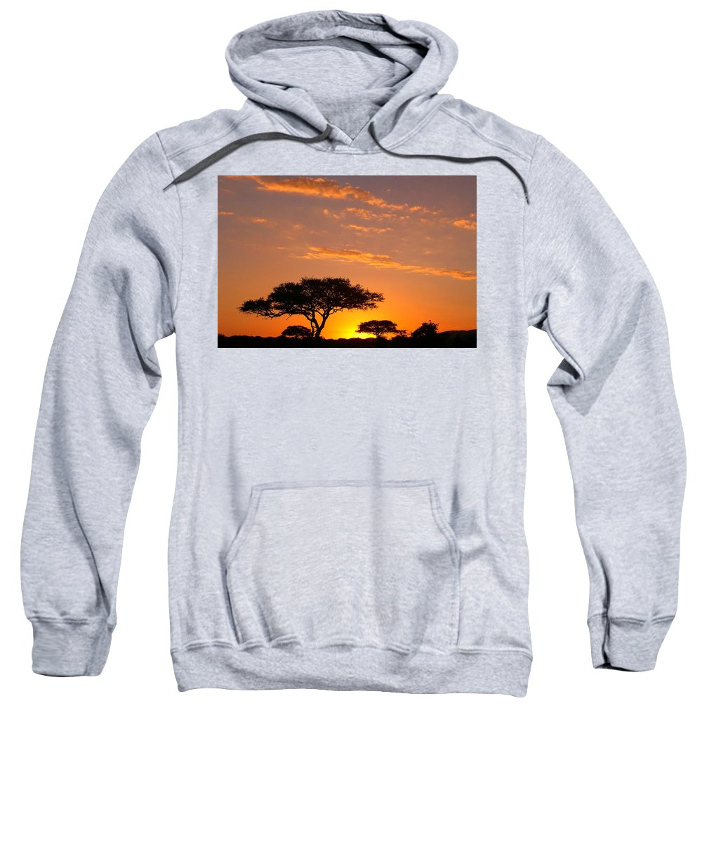 Africa Sweatshirt featuring the photograph African Sunset by Sebastian Musial
