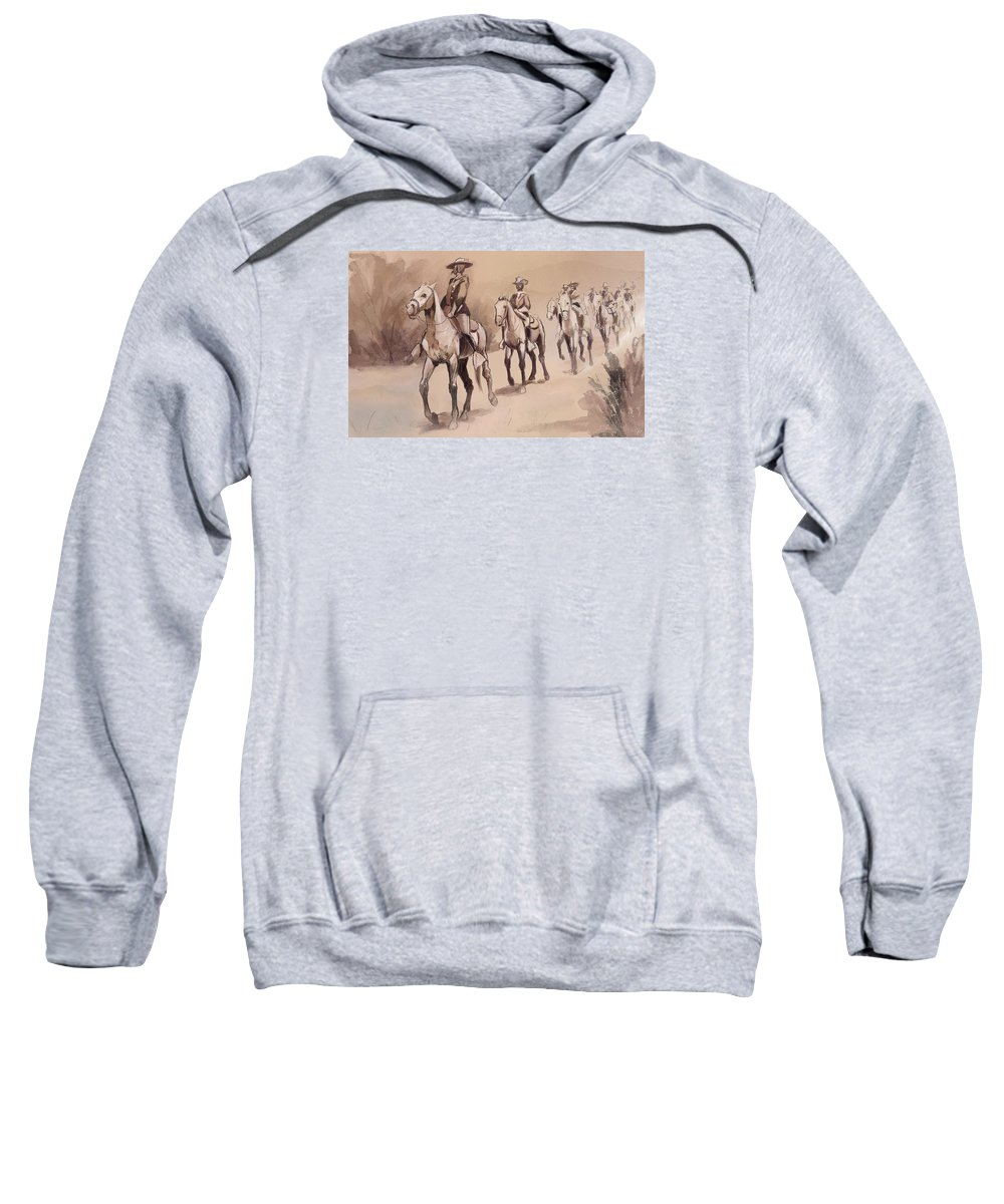 Copy Sweatshirt featuring the digital art After In The Desert by Kate Black