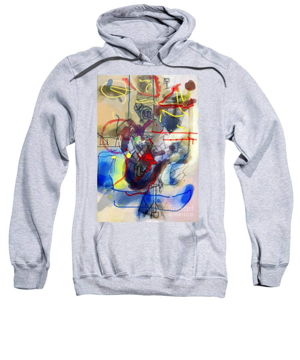 Torah Sweatshirt featuring the digital art Self-renewal 23c by David Baruch Wolk