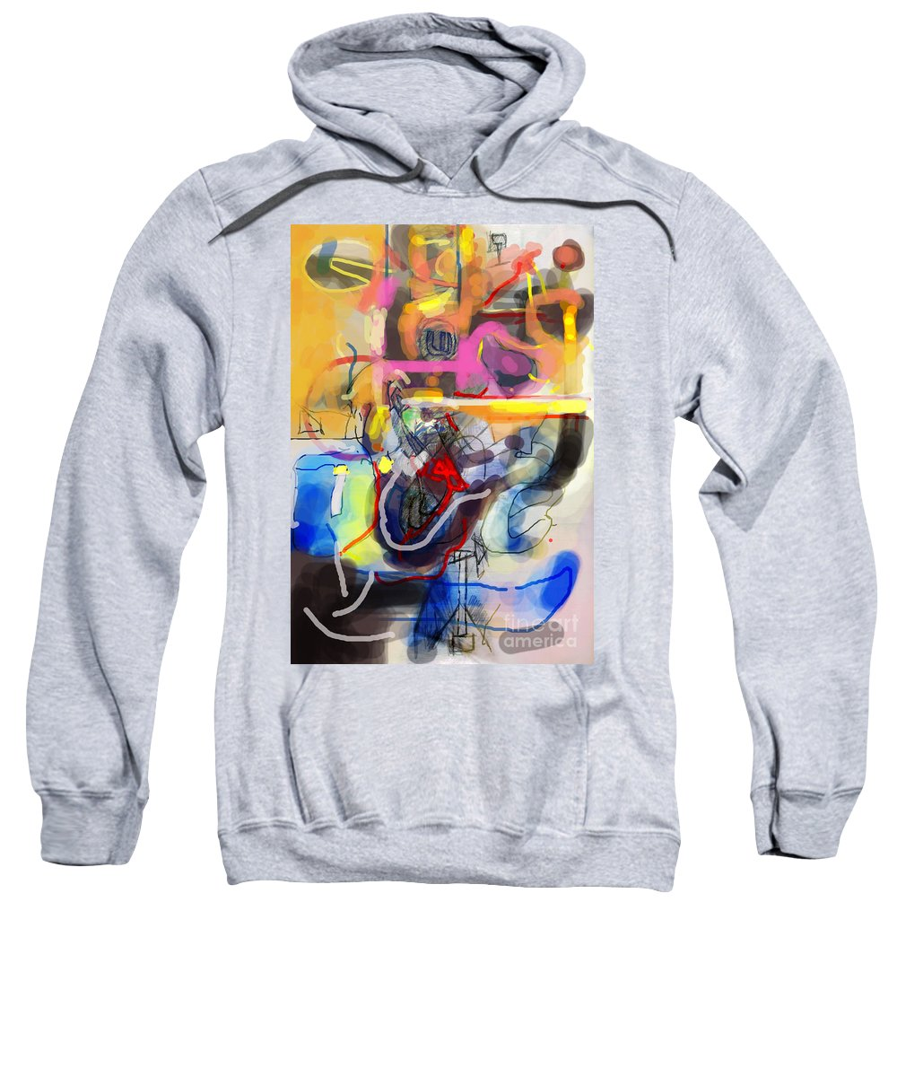 Torah Sweatshirt featuring the digital art Self-renewal 23d by David Baruch Wolk