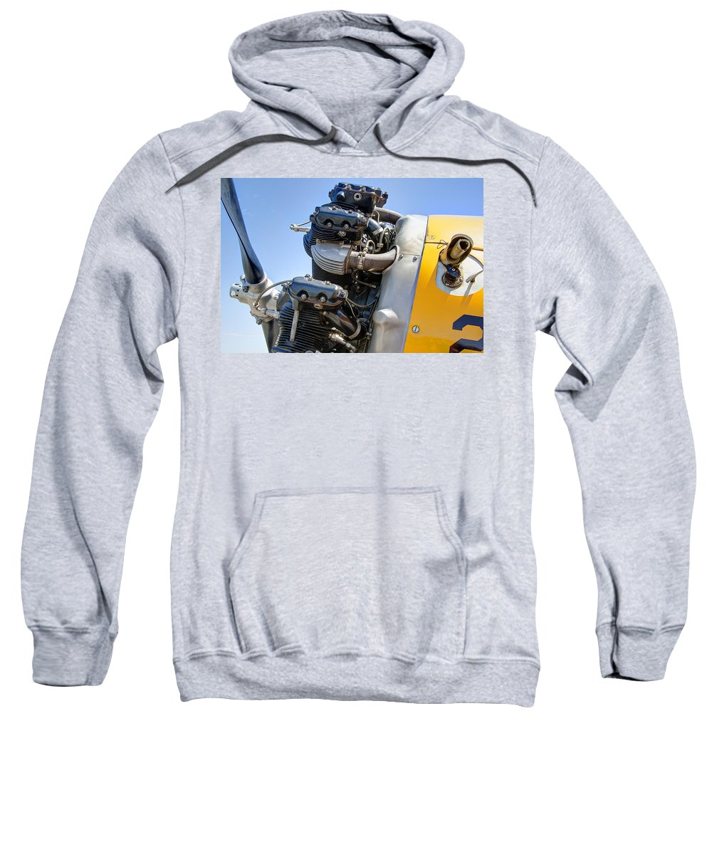 Engines Sweatshirt featuring the photograph Aircraft Engine 3 by Daniel Hagerman