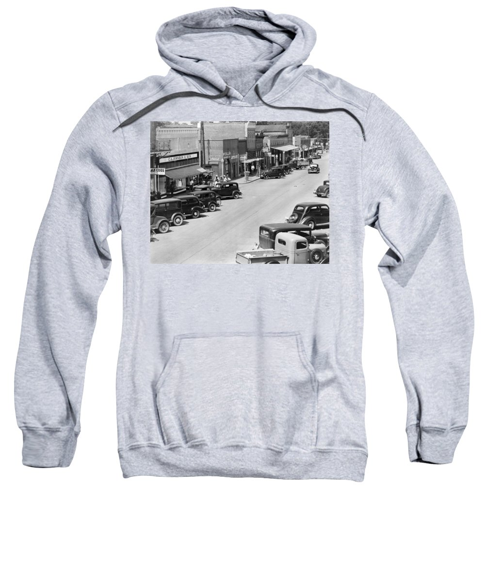 1935 Sweatshirt featuring the photograph Alabama Town, C1935 by Granger