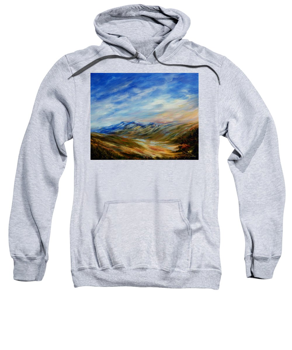 Alberta Moment Sweatshirt featuring the painting Alberta Moment by Joanne Smoley