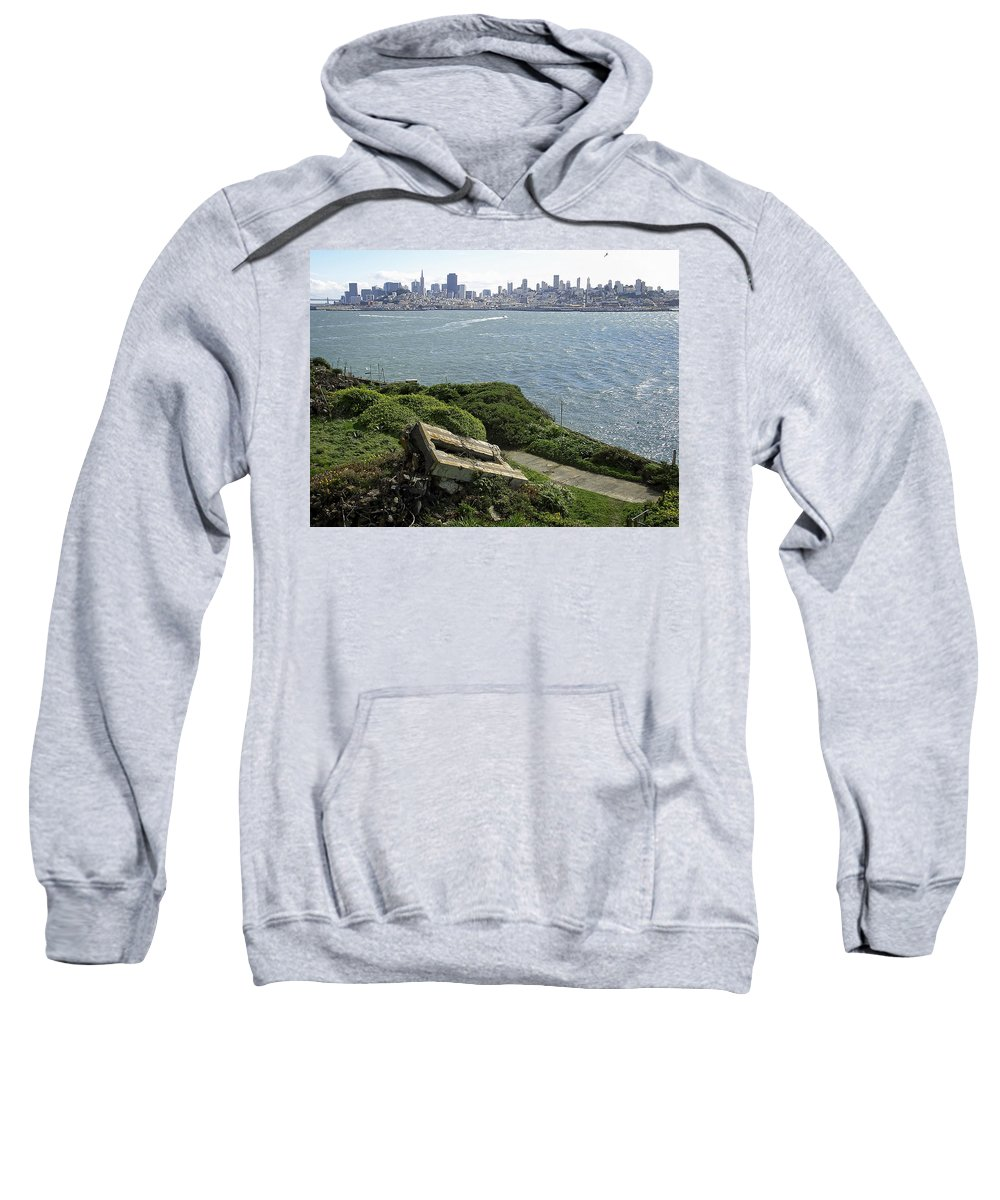Alcatraz Sweatshirt featuring the photograph Alcatraz And San Francisco by Daniel Hagerman