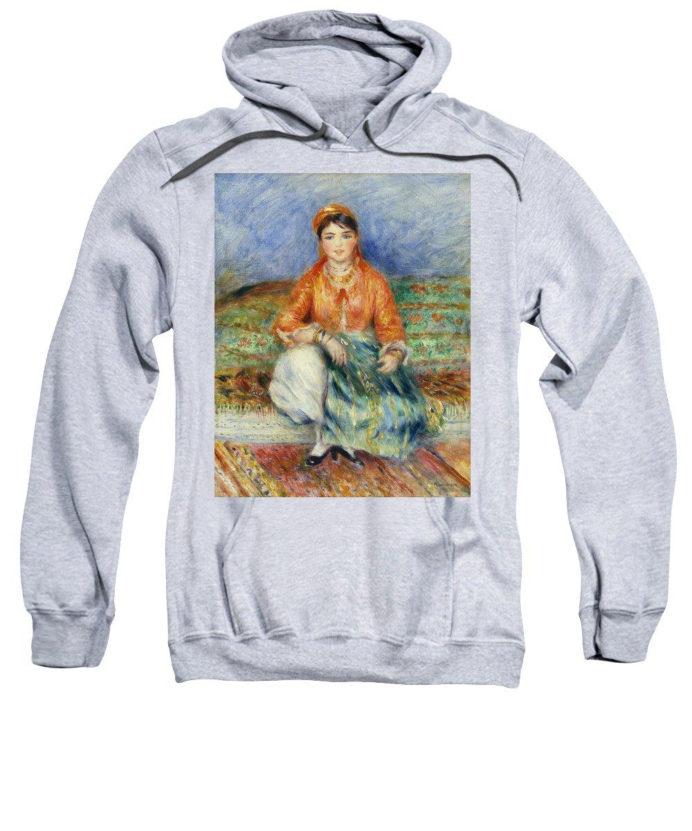 Algerian Girl Sweatshirt featuring the painting Algerian Girl by Georgia Fowler