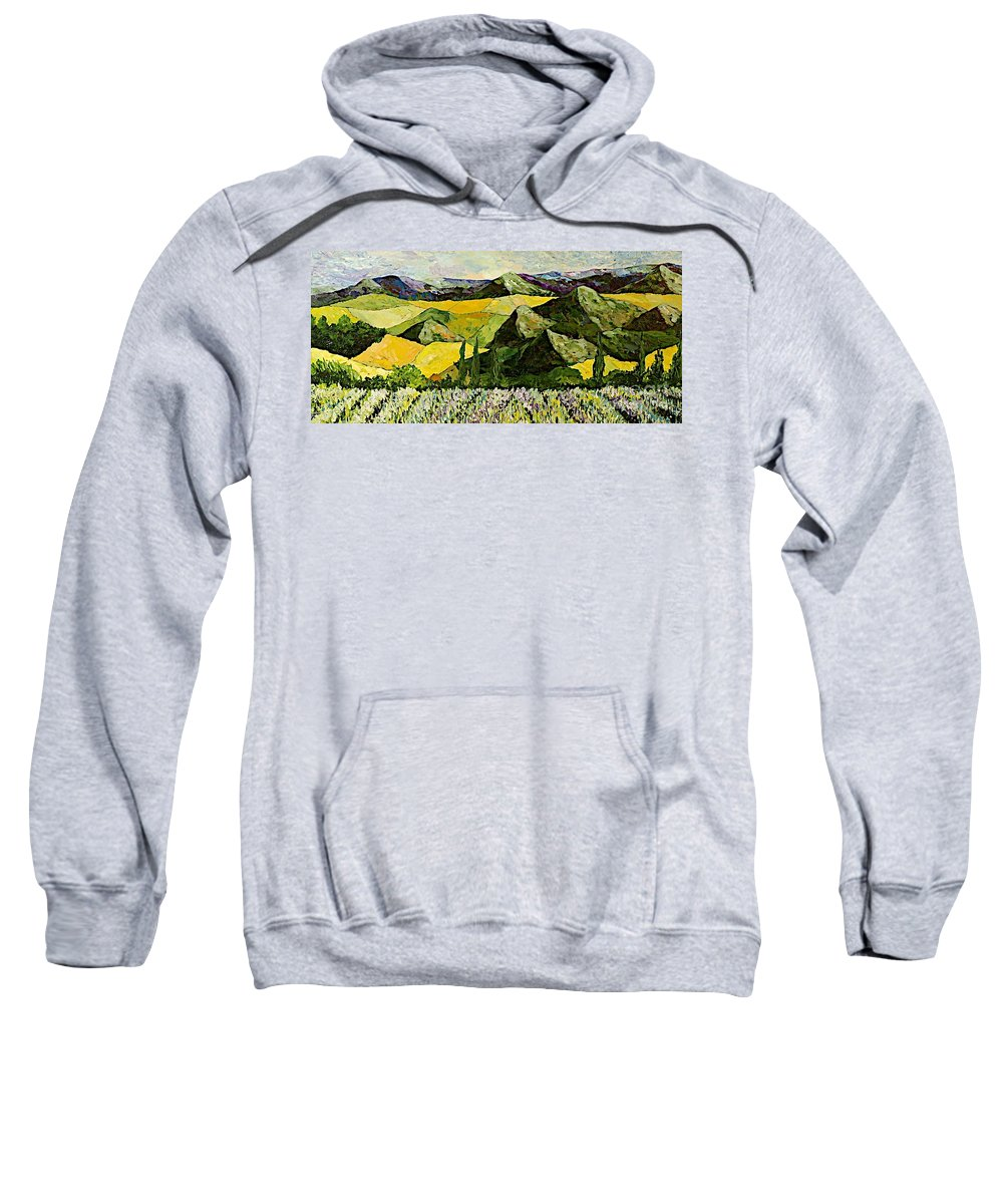 Landscape Sweatshirt featuring the painting All Day Long by Allan P Friedlander