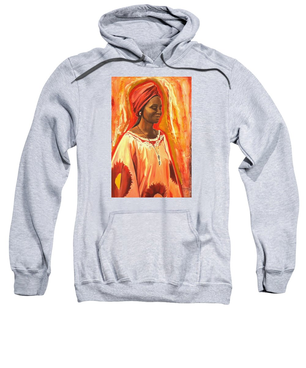 Portrait Sweatshirt featuring the painting All Dressed Up by Sheila Diemert