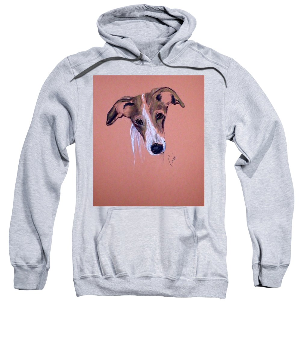 Whippet Sweatshirt featuring the drawing All Ears by Cori Solomon