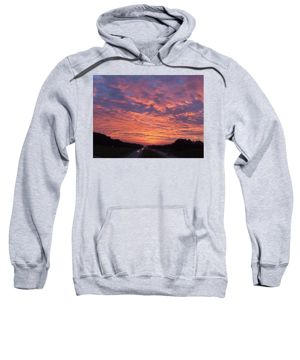 Sunrise Sweatshirt featuring the photograph All Over by Reid Callaway