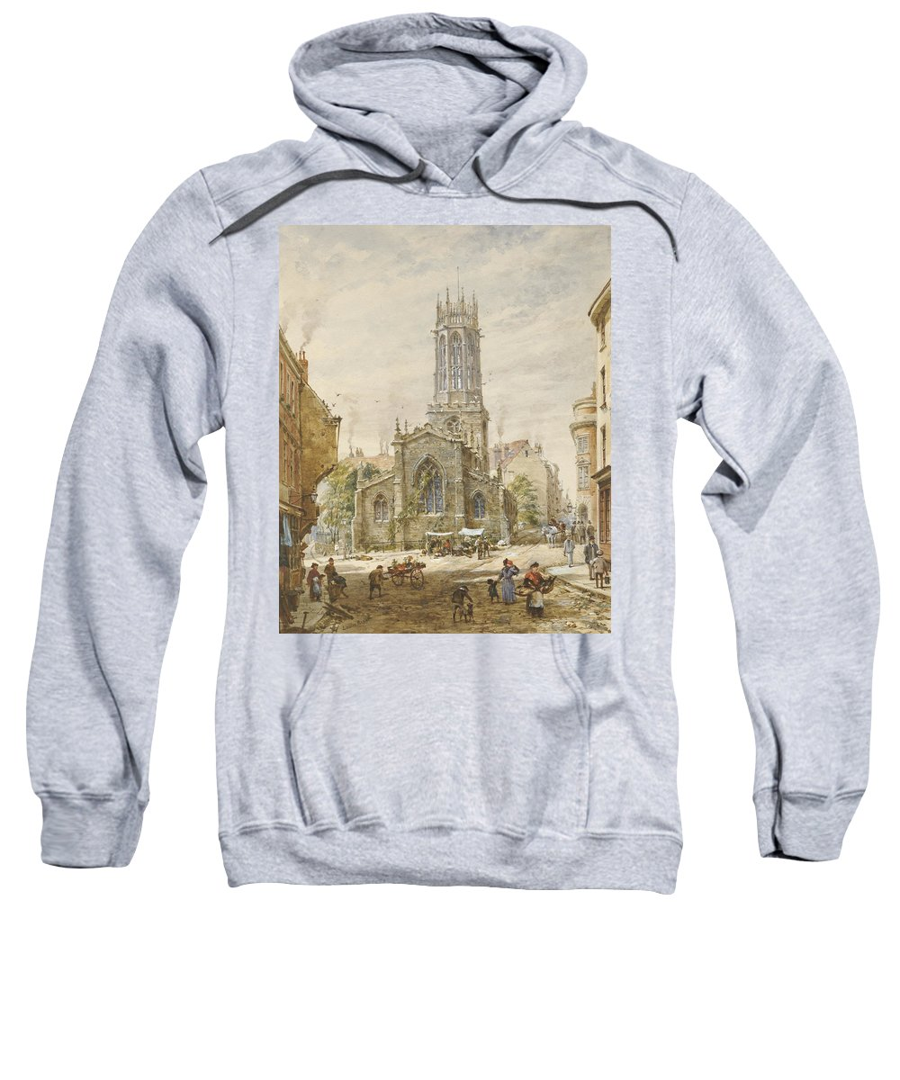 All Saints Pavement Sweatshirt featuring the painting All Saints by Louise Ingram Rayner