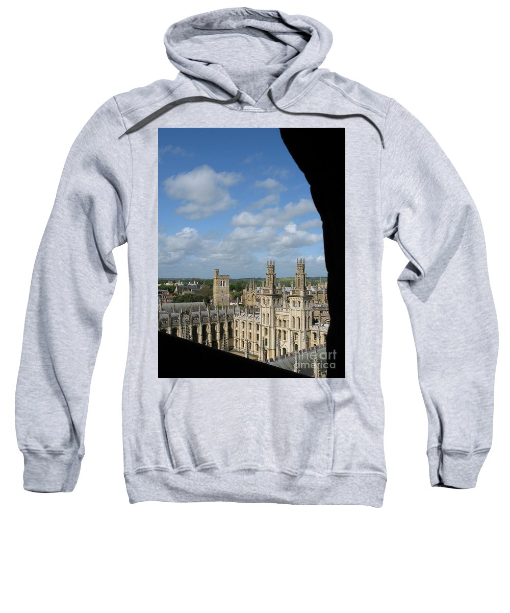 Oxford University Sweatshirt featuring the photograph All Souls College And Beyond by Ann Horn