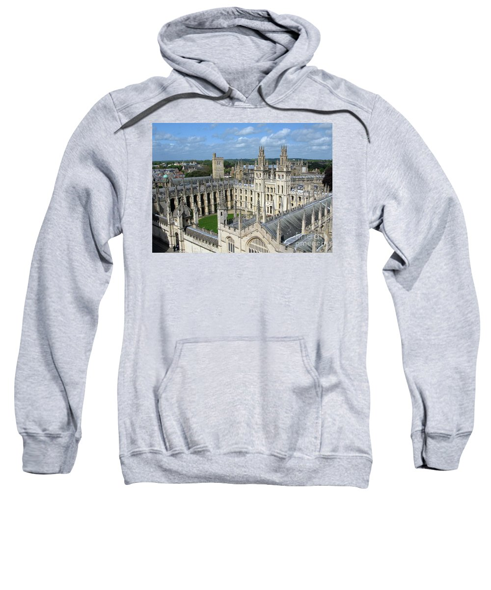 Oxford Sweatshirt featuring the photograph All Souls College by Ann Horn