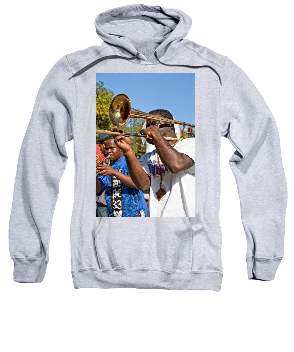 French Quarter Sweatshirt featuring the photograph All That Jazz by Steve Harrington