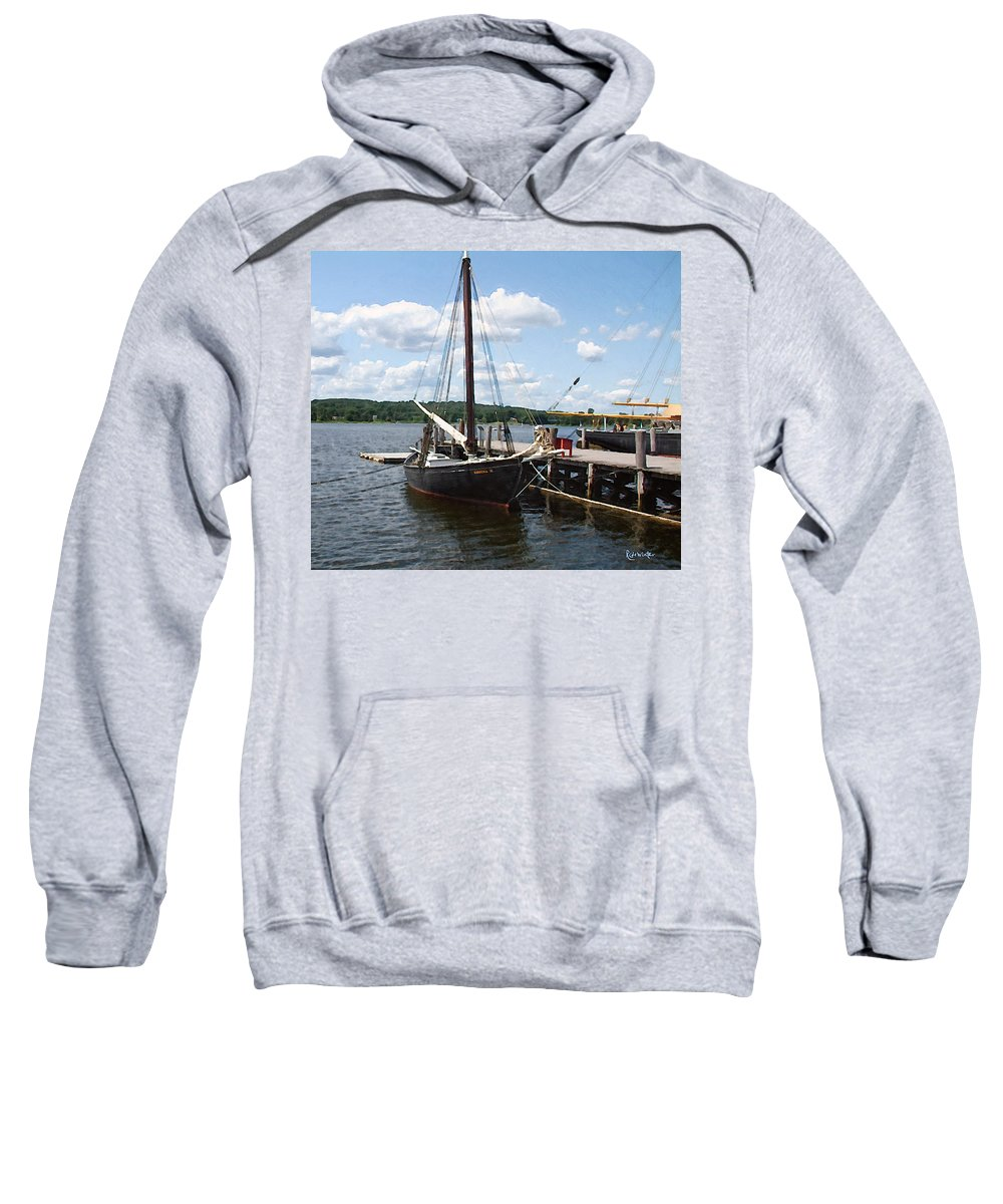 Landscape Sweatshirt featuring the painting All Tied Up by RC DeWinter