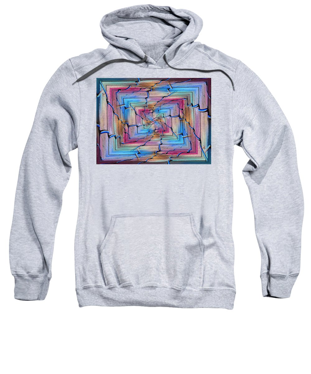 Abstract Sweatshirt featuring the digital art All Together Now And Forever by Tim Allen