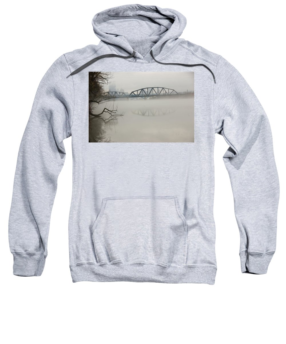 Landscape Sweatshirt featuring the photograph Allegheny In The Mist by Jay Ressler