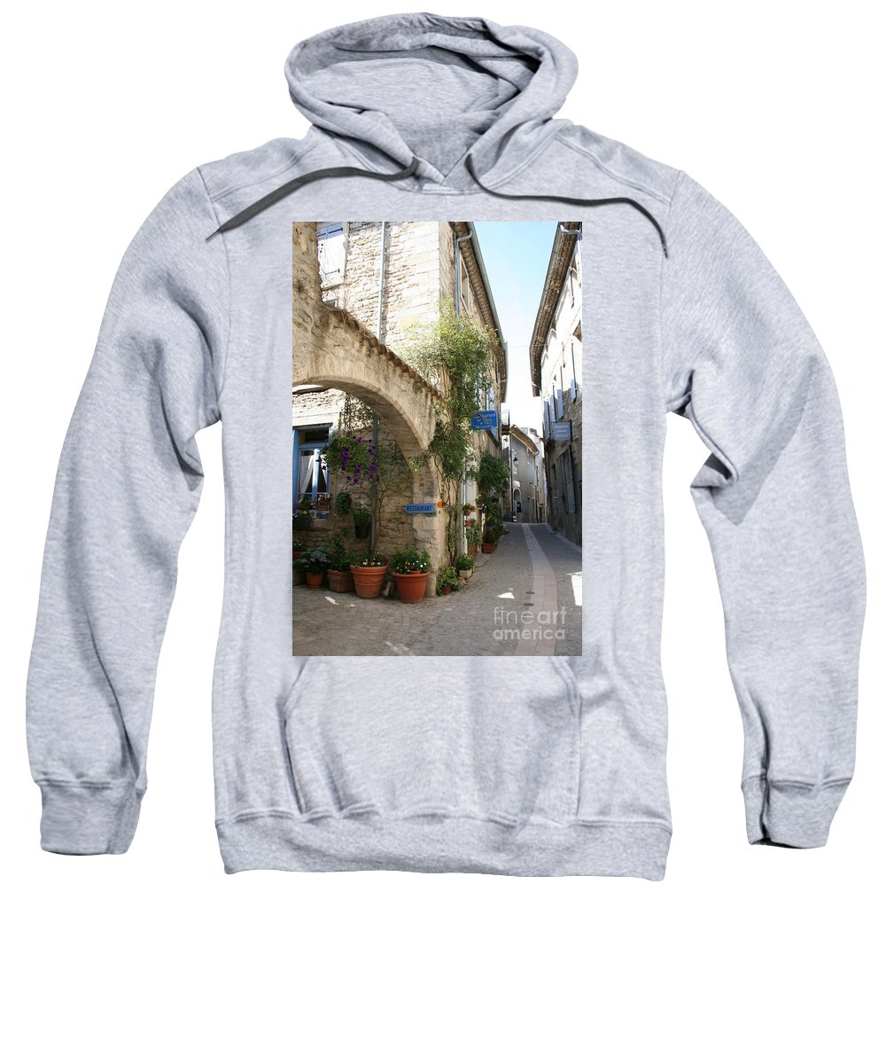 Alley Sweatshirt featuring the photograph Alley In The Procence by Christiane Schulze Art And Photography