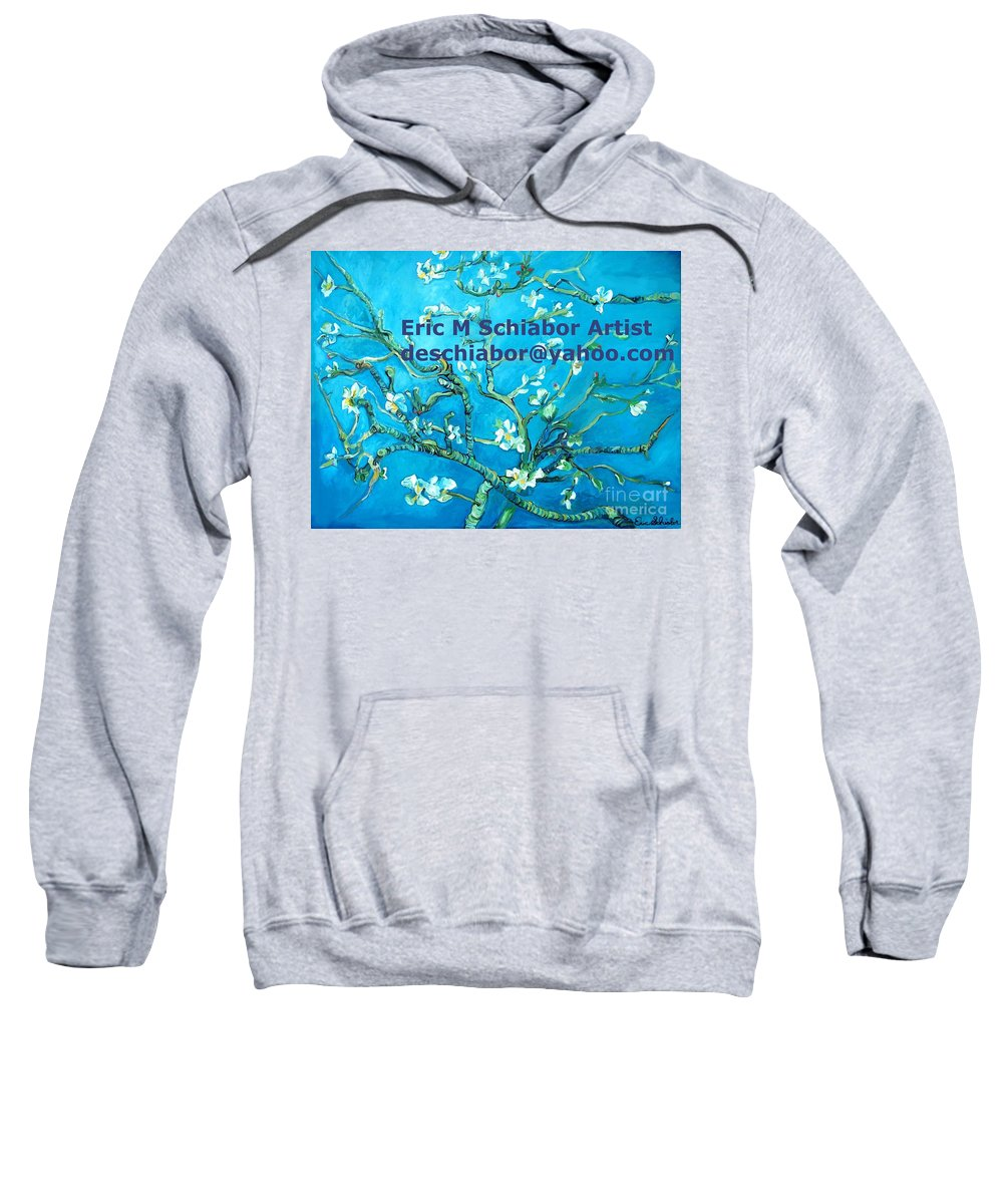 Almond Blossom Van Gogh Sweatshirt featuring the painting Almond Blossom Branches by Eric Schiabor