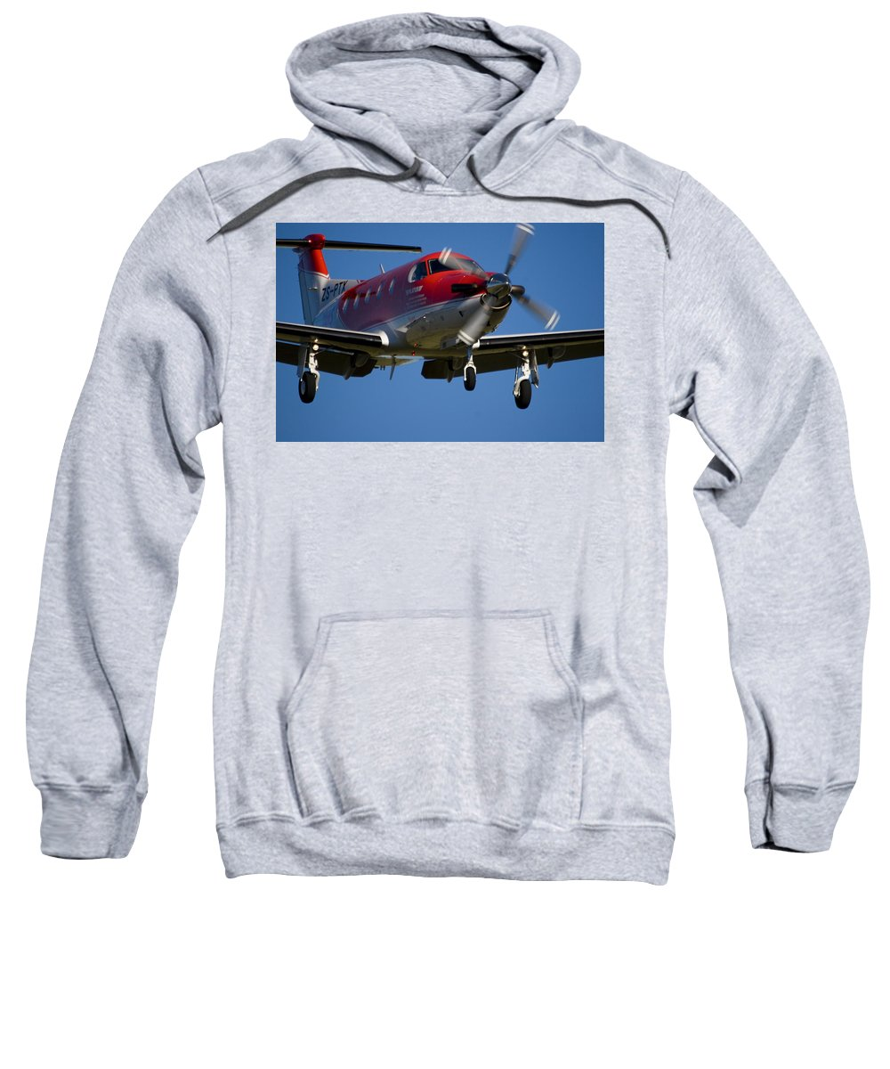 Pilatus Pc 12 Sweatshirt featuring the photograph Almost There by Paul Job