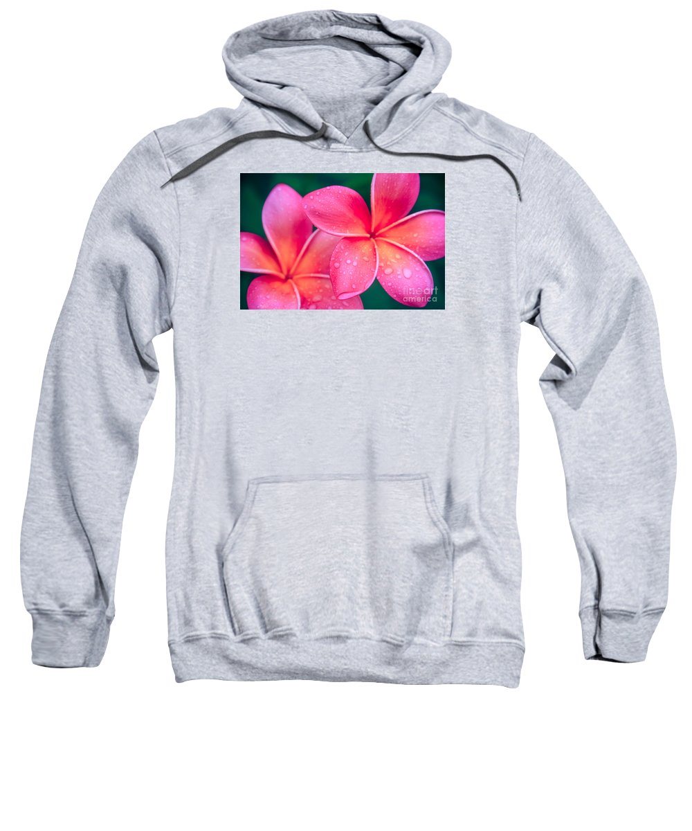 Aloha Sweatshirt featuring the photograph Aloha Hawaii Kalama O Nei Pink Tropical Plumeria by Sharon Mau