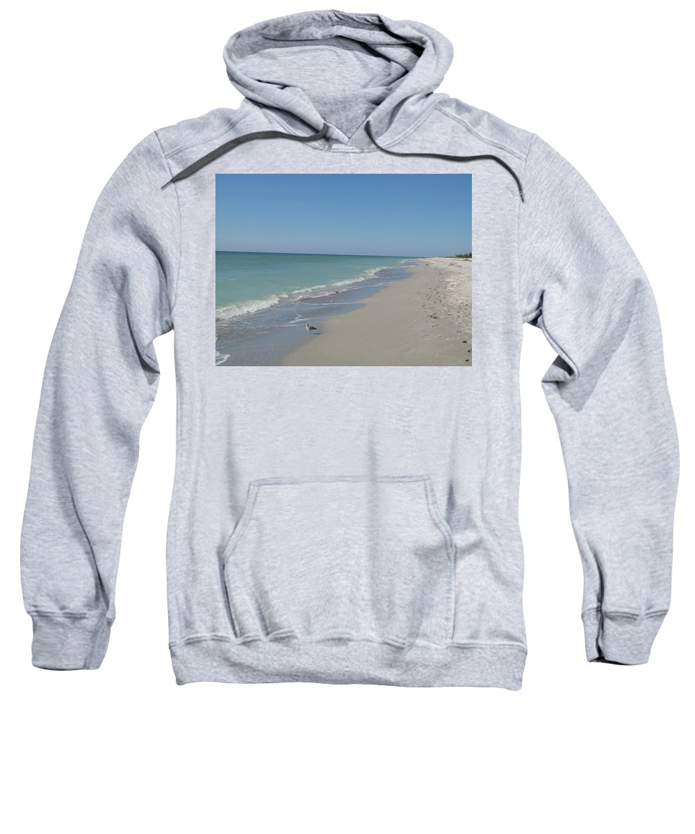 Beach Sweatshirt featuring the photograph Alone At The Beach by Christiane Schulze Art And Photography