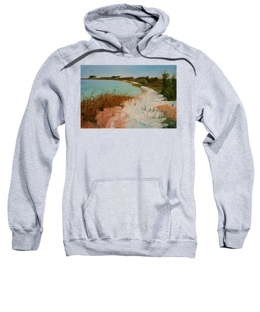 Seashore Sweatshirt featuring the painting Along The Shore by T S Carson