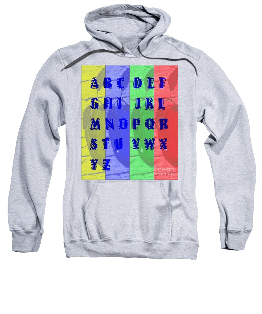 Alphabet With Apples Sweatshirt featuring the digital art Alphabet With Apples by Barbara Griffin
