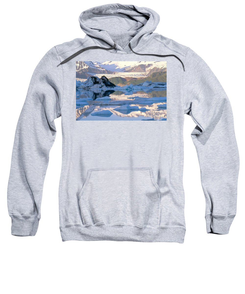 Landscape Sweatshirt featuring the photograph Alsek Glacier In St. Elias Mountains by Art Wolfe