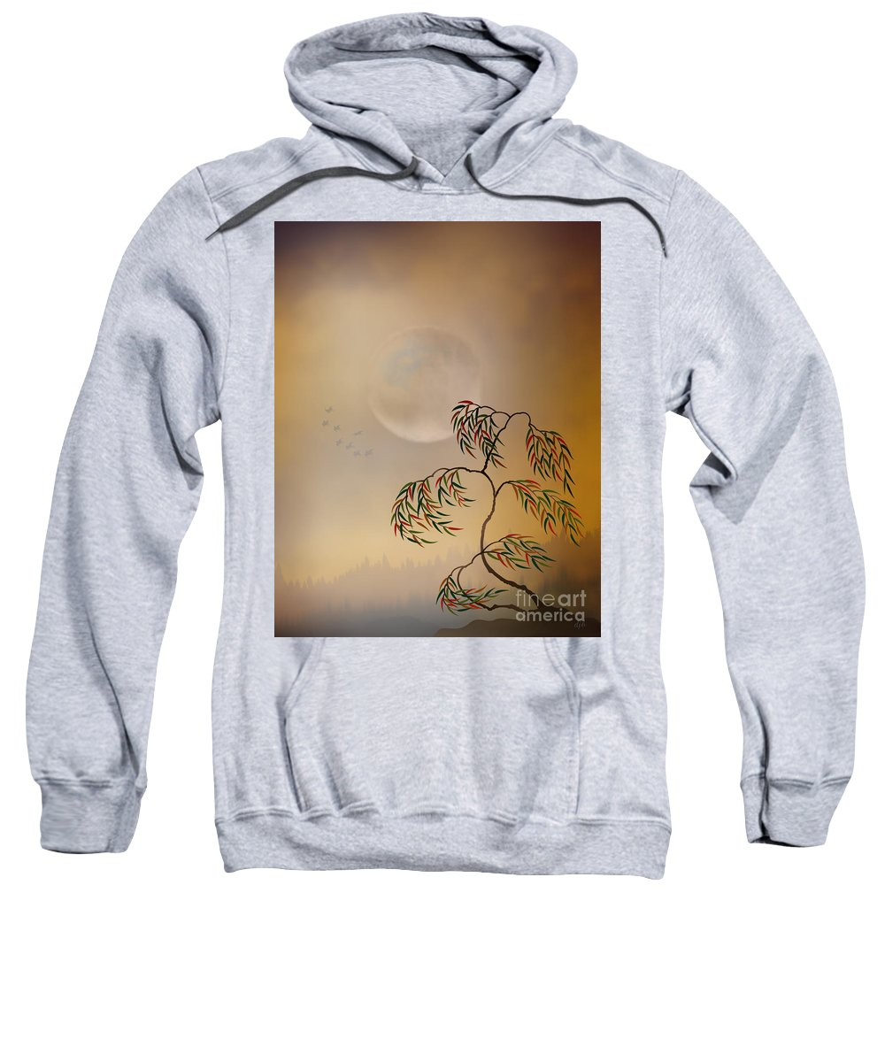 Amber Sweatshirt featuring the digital art Amber Vision by Peter Awax
