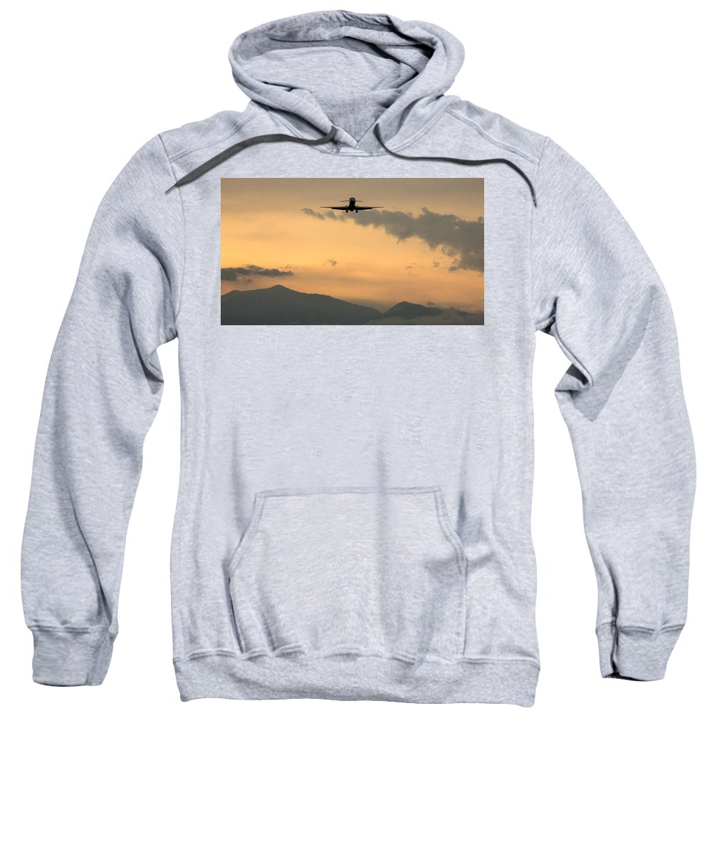 Md-80 Sweatshirt featuring the photograph American Airlines Approach by John Daly