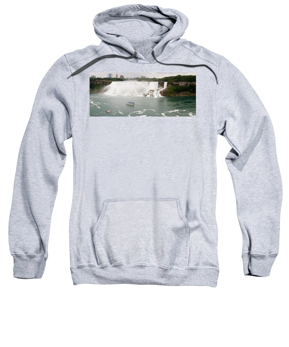 3scape Sweatshirt featuring the photograph American Falls by Adam Romanowicz