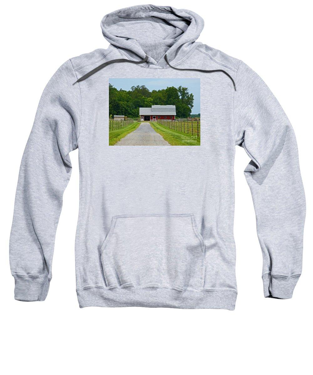 Amish Sweatshirt featuring the photograph Amish Farm by Ann Horn